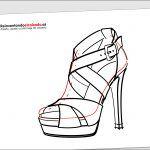 Dibujo de una sandalia de señora